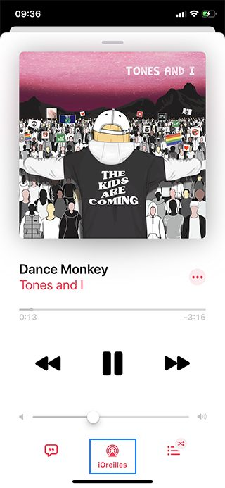 iphone musique airplay audio Comment écouter de la musique à 2 sur un même iPhone avec le partage audio