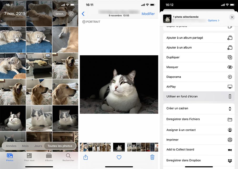 iphone photos fond decran Comment utiliser le mode nuit sur iPhone ou iPad