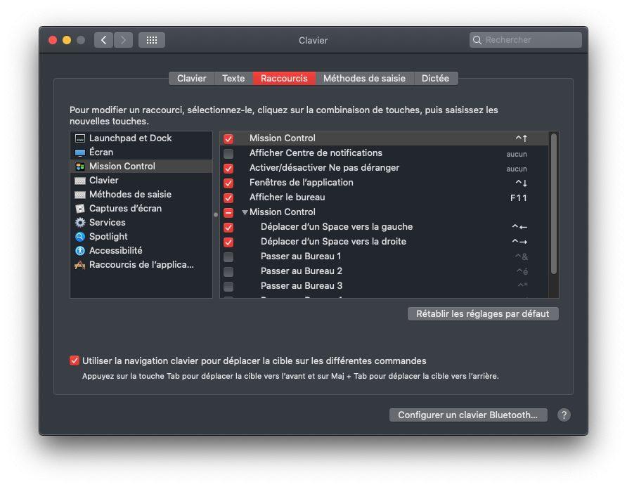 mac raccourcis clavier mission control Comment utiliser Split View avec un Mac