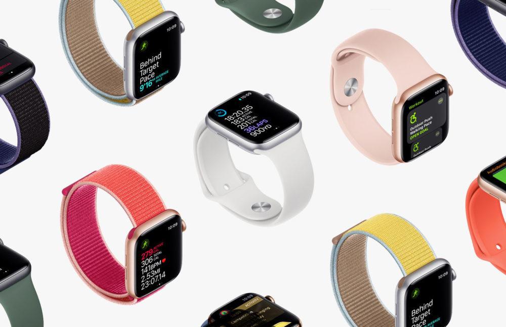 plusieurs apple watch 5 1000x647 LApple Watch Series 6 serait plus rapide, aurait une meilleure résistance à leau et plus