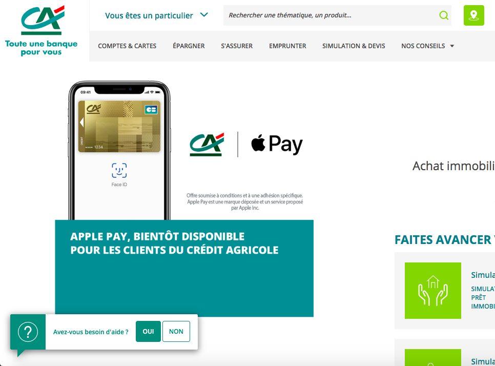 Credit Agricole Apple Pay Le Crédit Agricole confirme enfin larrivée dApple Pay