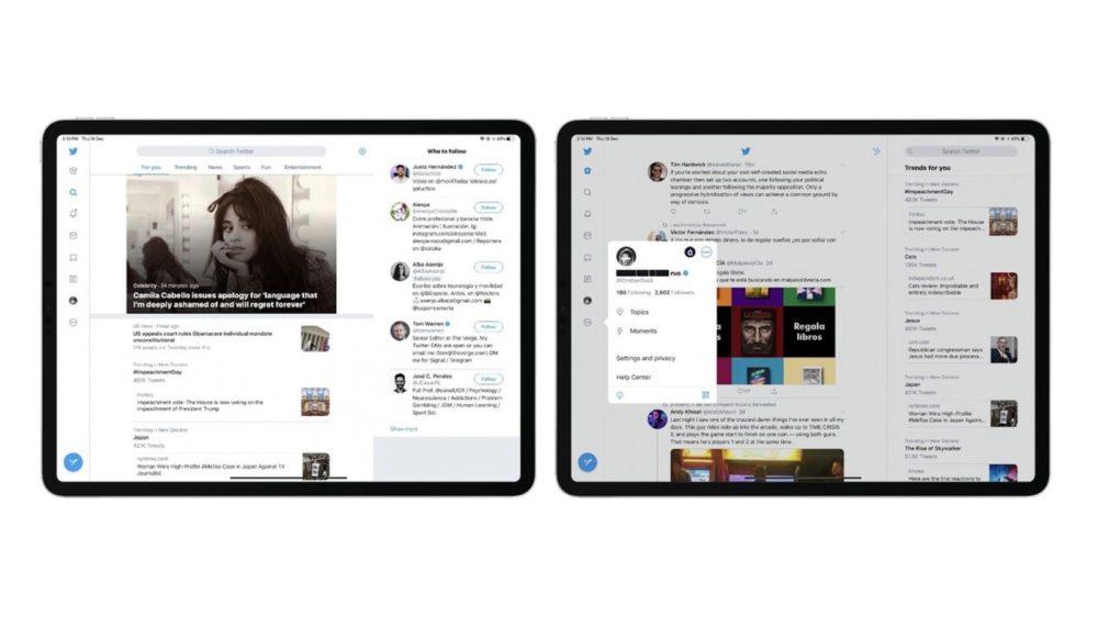 Twitter déploie une interface repensée pour liPad avec plusieurs colonnes