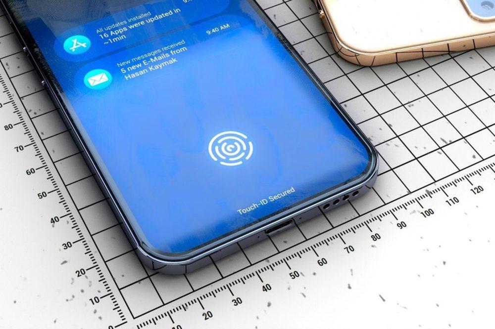 iphone 2020 touch id iPhone 12 : Touch ID sous lécran avec un capteur à ultrasons