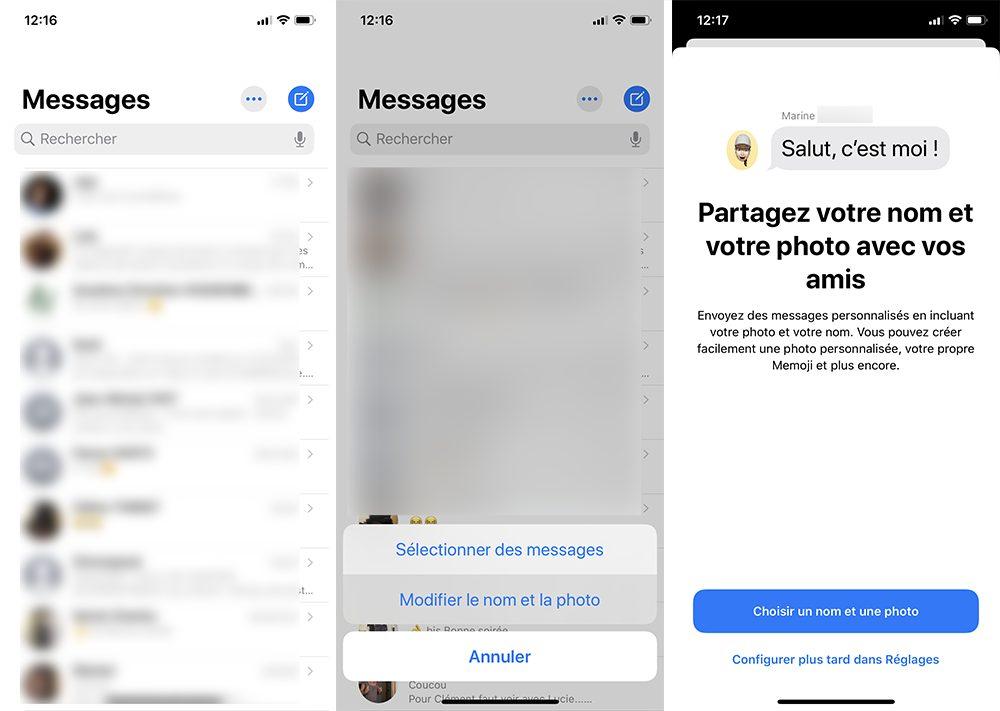 iphone messages fiche perso Comment personnaliser sa fiche contact dans Messages ?