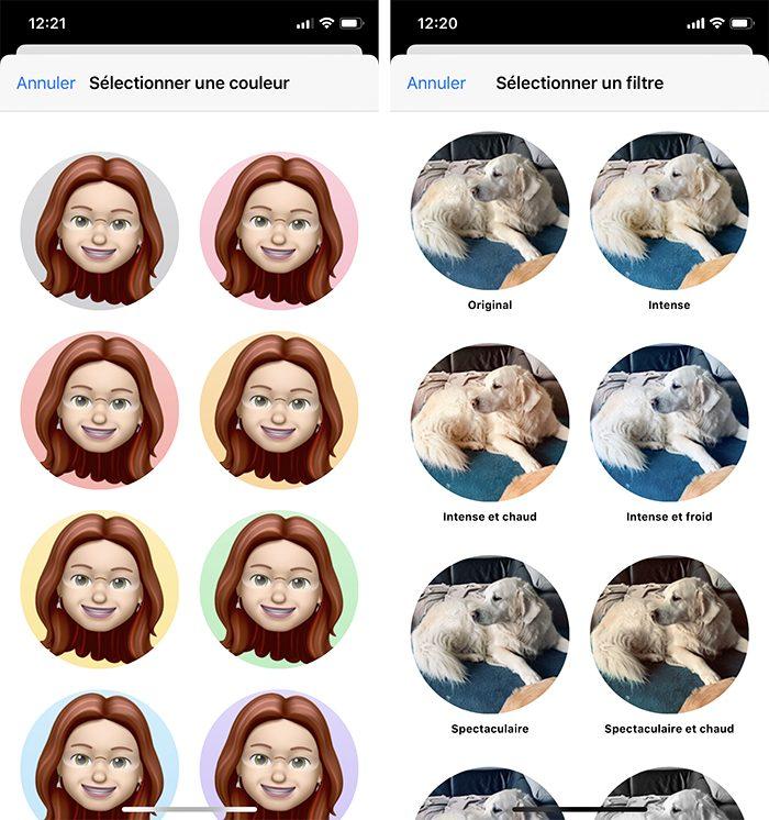 iphone messages photos filtre fond Comment personnaliser sa fiche contact dans Messages ?