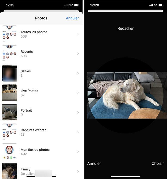 iphone messages photos Comment personnaliser sa fiche contact dans Messages ?