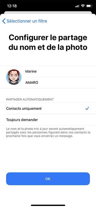 iphone saisir info Comment personnaliser sa fiche contact dans Messages ?