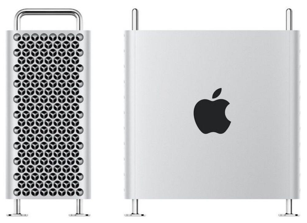 mac pro side and front Le Mac Pro (6 499 euros) et le Pro Display XDR (5 499 euros) sont disponibles en précommande