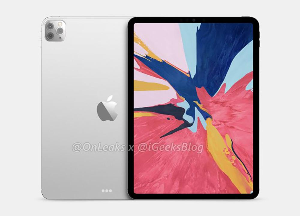 2020 iPad Pro Rendus 1 Des rendus basés sur des fuites montrent liPad Pro 2020 avec trois caméras au dos