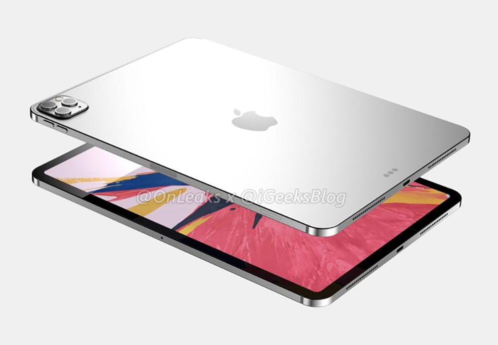 2020 iPad Pro Rendus 2 Des rendus basés sur des fuites montrent liPad Pro 2020 avec trois caméras au dos