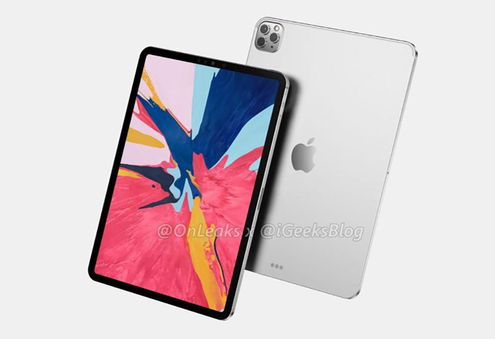 2020 iPad Pro Rendus Des rendus basés sur des fuites montrent liPad Pro 2020 avec trois caméras au dos