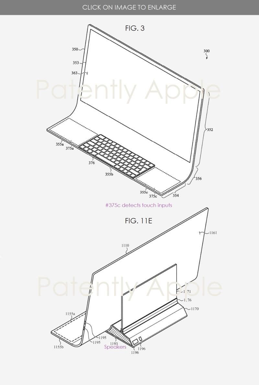 Brevet iMac Bloc de Verre 2 Un brevet déposé par Apple imagine un iMac en une seule plaque de verre courbée