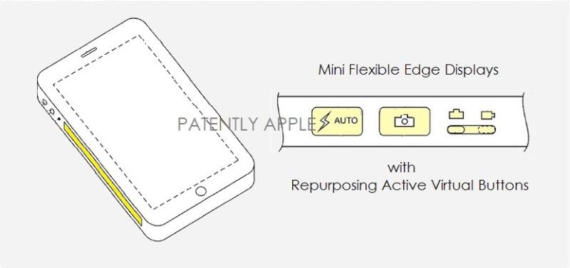 brevet iphone touch bar Apple dépose un brevet pour un iPhone avec un écran tactile sur le côté