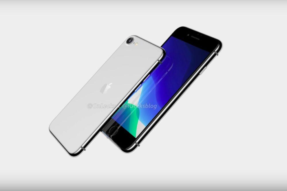 iPhone SE 2 ou iPhone 9 Rendus 3D La production de liPhone SE 2 (iPhone 9) débuterait le mois prochain, disponibilité en mars ?