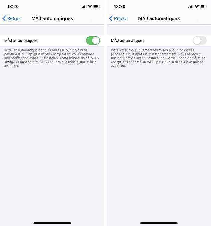 iphone maj auto 1 Désactiver la mise à jour automatique sur votre Mac, iPhone, Apple Watch, Apple TV et HomePod