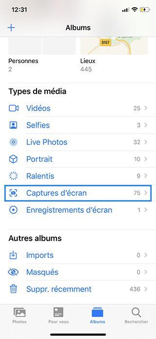 iphone photos album capture ecran Comment faire une capture décran sur iPhone, Mac, Apple Watch, Apple TV