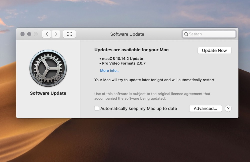 mac maj auto Désactiver la mise à jour automatique sur votre Mac, iPhone, Apple Watch, Apple TV et HomePod
