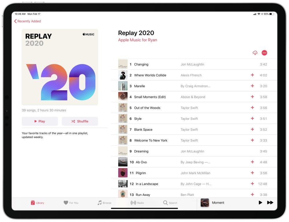 Apple Music Replay 2020 Replay : la playlist personnalisée dApple Music pour 2020 est disponible