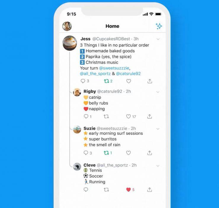 Twitter iPhone iPad Nouveau Design Conversation Twitter sur iPhone propose du nouveau pour suivre les conversations sur la page dAccueil