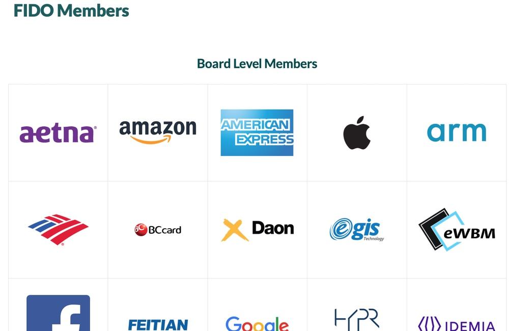 apple membre fido alliance L'authentification à 2 facteurs, l'avenir du mot de passe ?