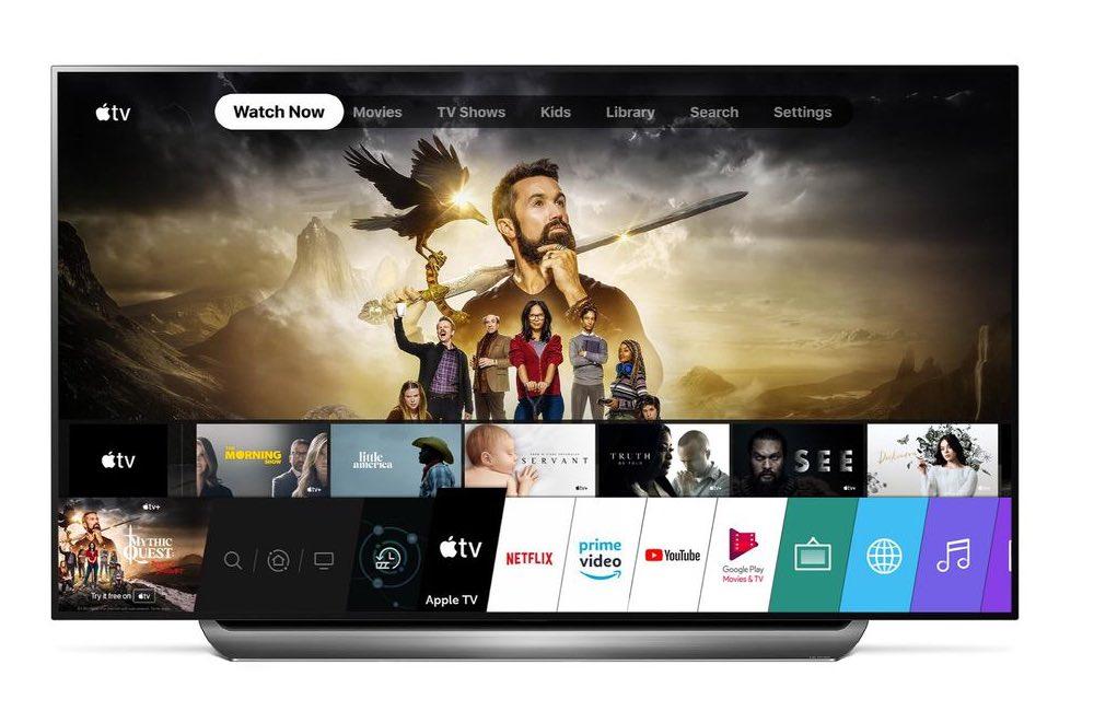 apple tv lg Lapp Apple TV est disponible sur les TV LG de 2018