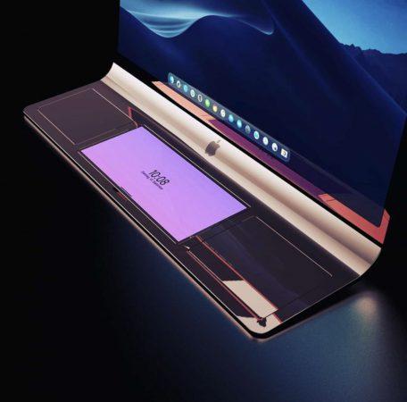 iMac incurve Concept 3D 2 Le concept iMac incurvé dont montre le brevet dApple est proposé en rendus 3D
