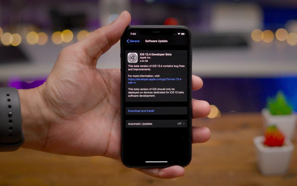 iOS 13.4 developpeur beta La bêta 3 diOS 13.4 et diPadOS 13.4 sont disponibles