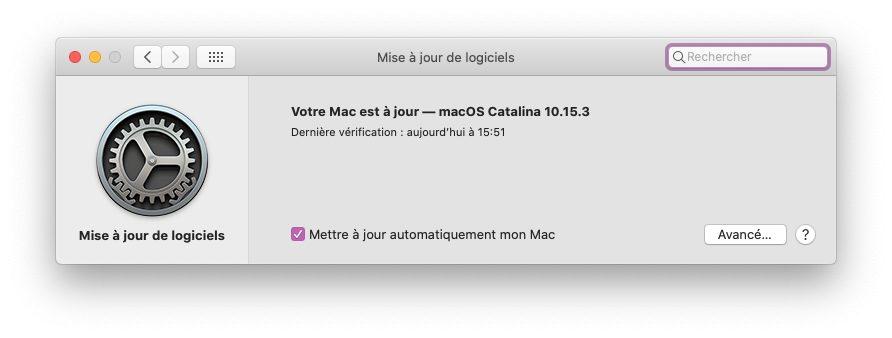 macos catalina maj La dernière version de macOS Catalina corrige un bug dans Mail