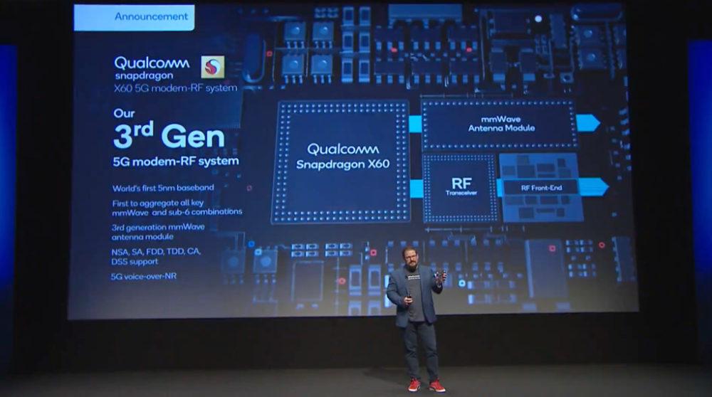 qualcomm modem 5g x60 1 Qualcomm annonce le modem 5G X60 avec une vitesse de plus de 7 Go/s : liPhone 12 en serait équipé