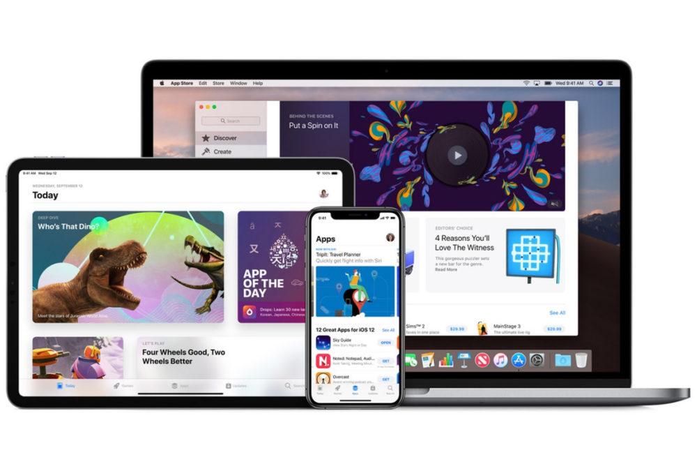 App Store iOS macOS Les achats universels pour les applis iOS, iPadOS, watchOS, macOS et tvOS sont disponibles