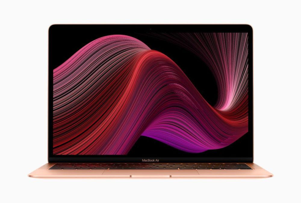 Apple Nouveau Macbook Air Apple annonce le MacBook Air 2020 : clavier en ciseaux, jusquà 2 To de stockage... 1 199 euros