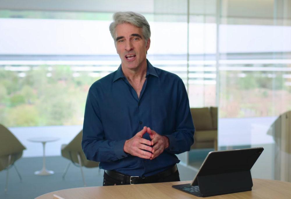 Craig Federighi Demo iPad Pro 2020 iPad Pro 2020 et Magic Keyboard : Craig Federighi nous fait une démonstration