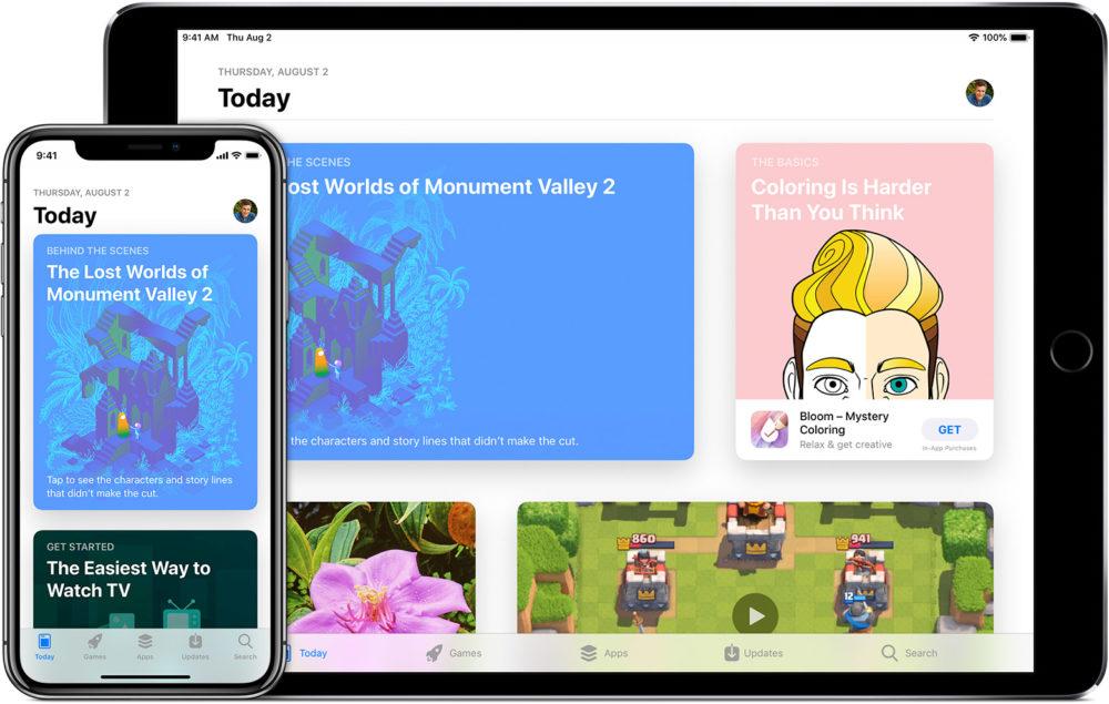 ios12 iphone x ipad pro app store today App Store : Apple cite des développeurs qui se réjouissent de la commission de 15%