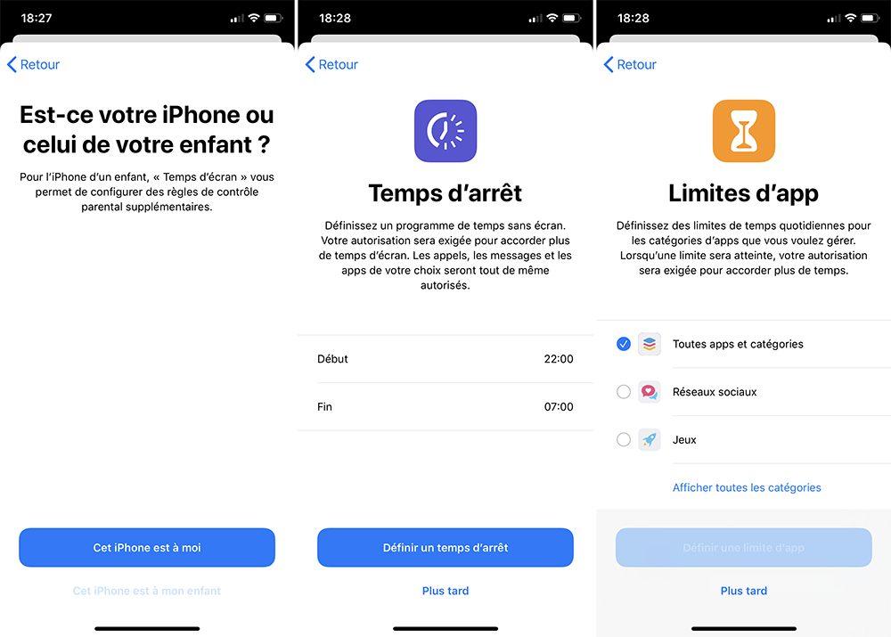 iphone activer temps ecran enfant 1 Comment bloquer les achats intégrés sur l'App Store