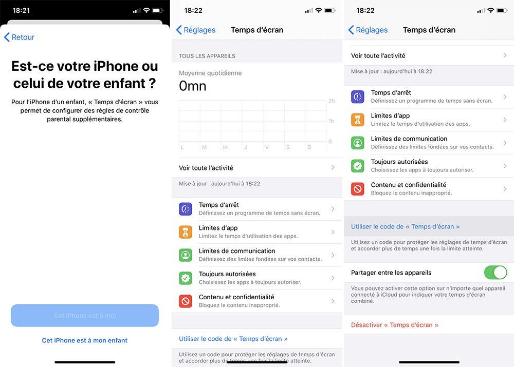 iphone activer temps ecran Comment bloquer les achats intégrés sur l'App Store
