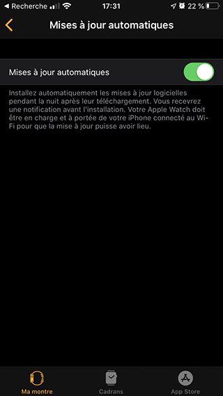 iphone apple watch maj auto Comment effectuer la mise à jour de son Apple Watch