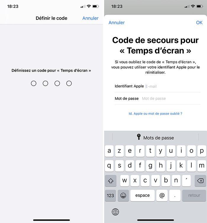 iphone code temps ecran Comment bloquer les achats intégrés sur l'App Store