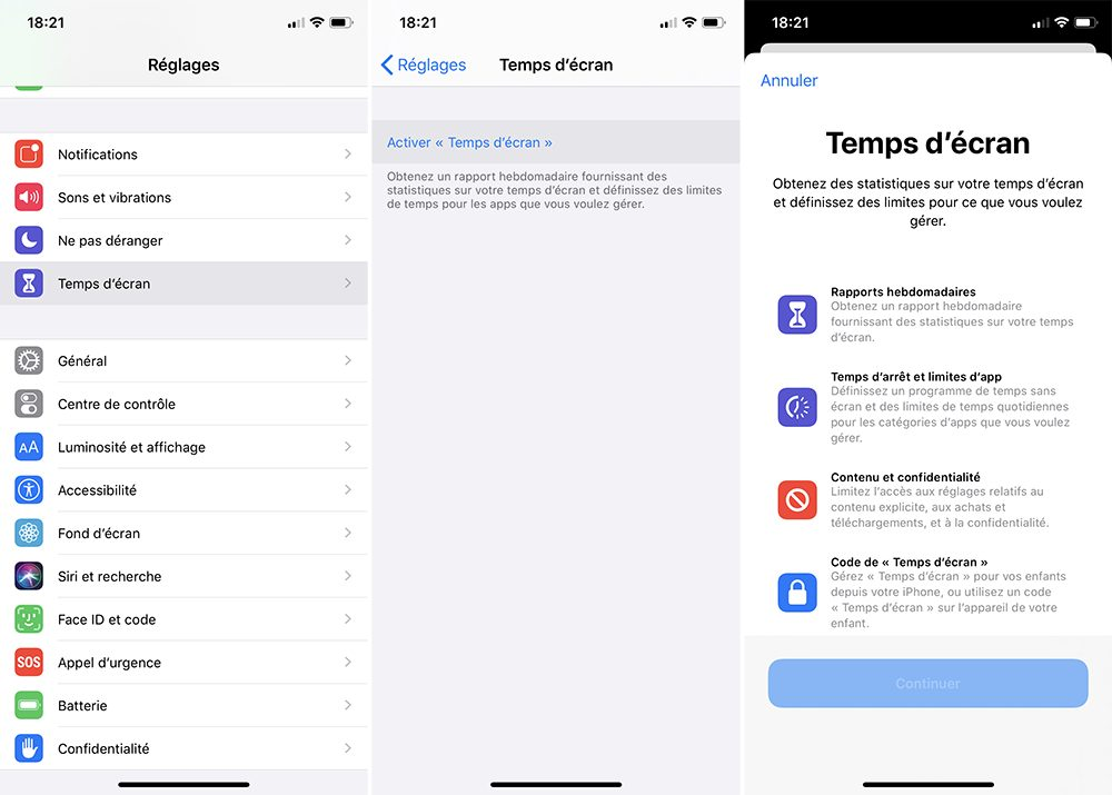 iphone debut activer temps ecran Comment bloquer les achats intégrés sur l'App Store