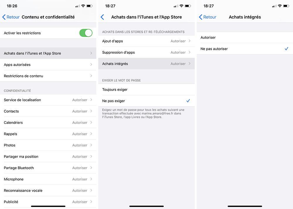 iphone temps ecran bloquer achats integres Comment bloquer les achats intégrés sur l'App Store