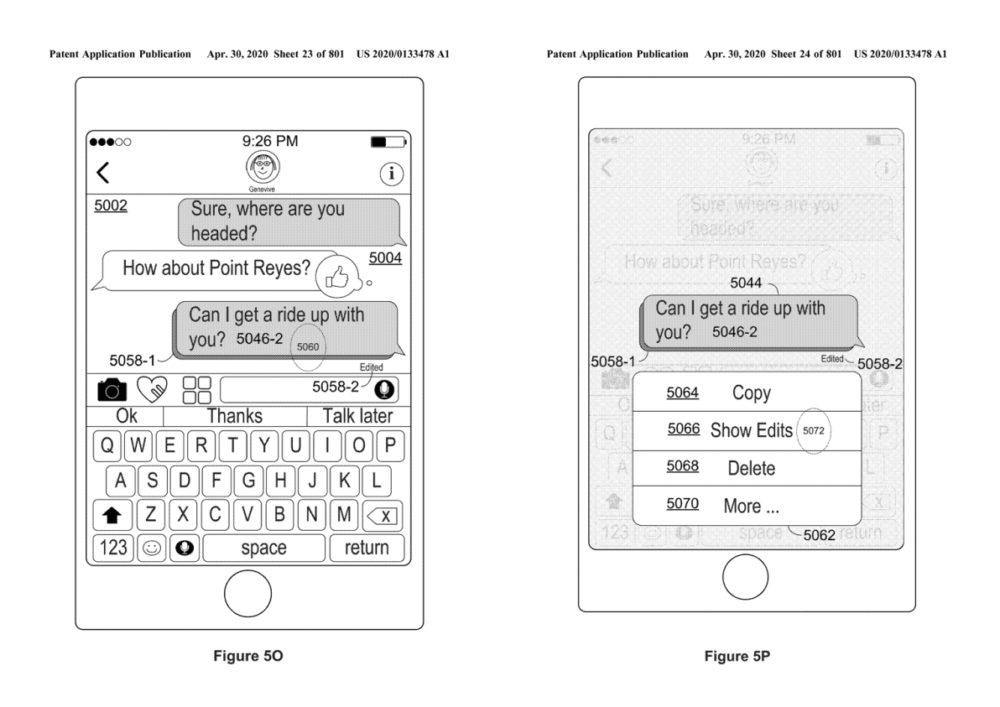 Apple Brevet iMessage Modification iMessage : Apple pourrait proposer aux utilisateurs de modifier les messages déjà envoyés