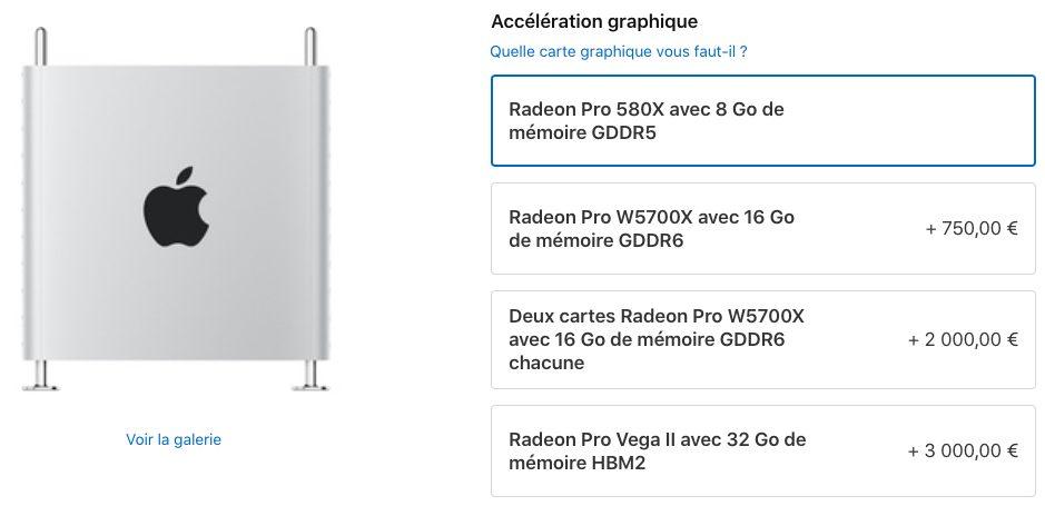 Mac Pro 2019 Module MPX avec Radeon Pro W5700X Apple Mac Pro : la Radeon Pro W5700X est disponible à lachat