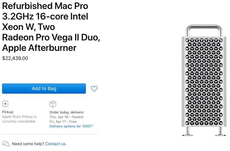 Mac Pro 2019 Reconditionne 2 Mac Pro 2019 : les modèles reconditionnés sont disponibles à lachat aux États Unis