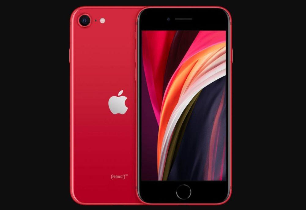 iPhone SE 2020 RED Avant Arriere Voici les prix de réparation de liPhone SE de 2e génération