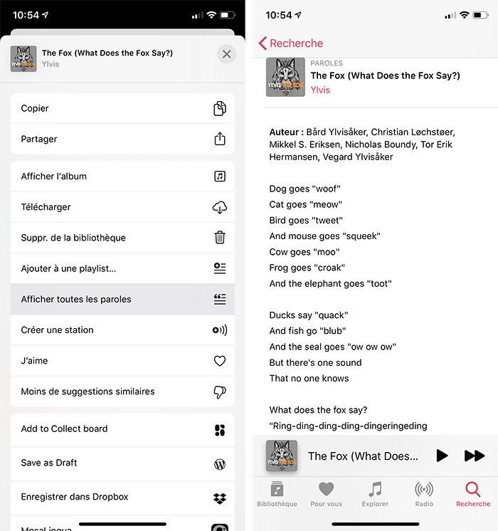 iphone musique paroles Comment avoir un karaoké sur Mac et iPhone avec les paroles de Musique