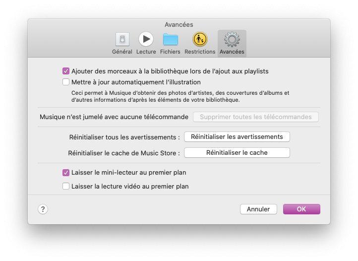mac musique reglages avancees Comment avoir un karaoké sur Mac et iPhone avec les paroles de Musique