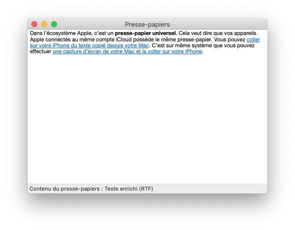 mac presse papier 1 Trouver lhistorique du presse papier sur Mac et iPhone