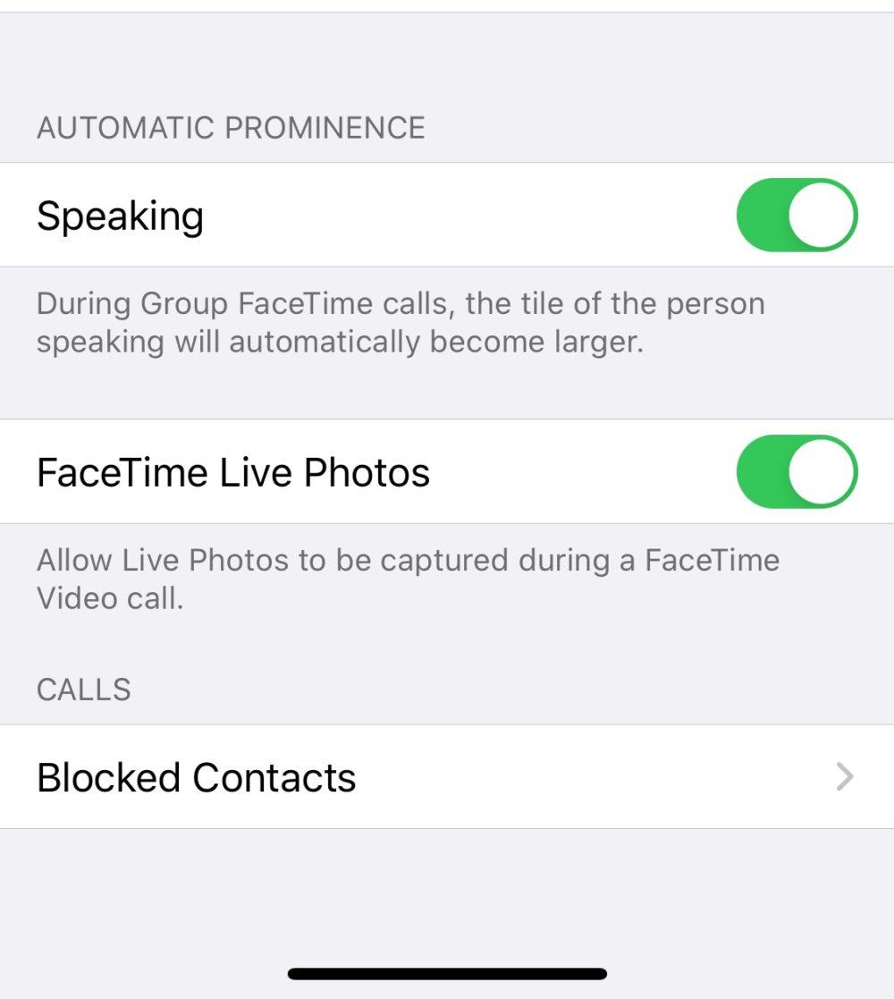 FaceTime Groupe Zoom Desactivation FaceTime   iOS 13.5 : Apple propose une option pour désactiver le zoom sur lutilisateur qui parle