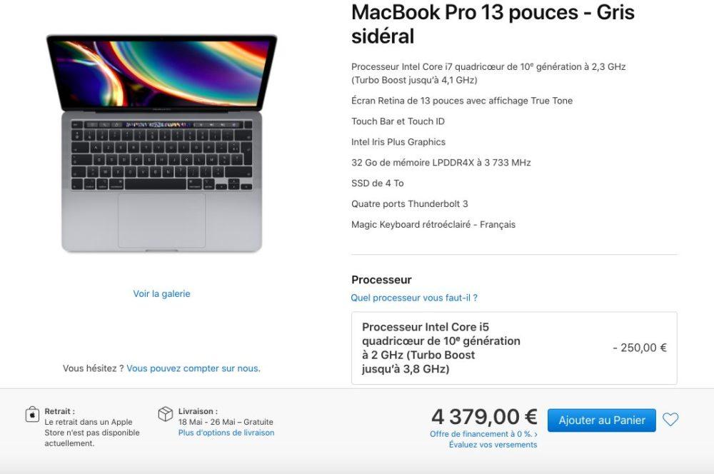 MacBook Pro 2020 13 Pouces Apple met à jour le MacBook Pro 13 pouces avec le Magic Keyboard, double stockage SSD etc.