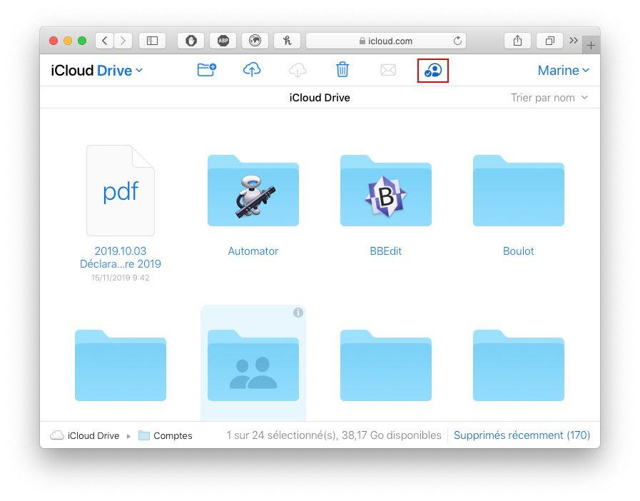 icloud com partage dossier icloud afficher personne Comment utiliser le partage de dossier iCloud avec votre iPhone, Mac, Windows