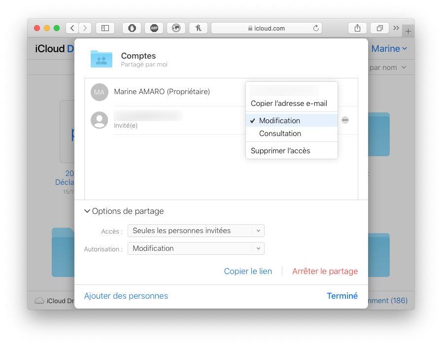 icloud com partage dossier icloud reglages Comment utiliser le partage de dossier iCloud avec votre iPhone, Mac, Windows